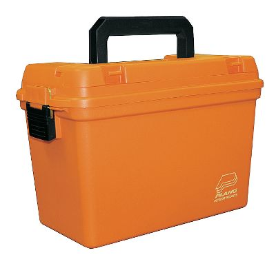 Fishing Perfect for supplies, this rugged box boasts a water-resistant DriLoc Seal that keeps contents clean and dry. Orange for quick recognition. Dimensions: 15L x 8W x 10H. Color: Orange. Type: Tackle Boxes. - $21.99