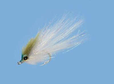 Flyfishing Attractive baitfish pattern is ideal for various saltwater species. Per each. Sizes: 1, 2, 4. Colors: Olive, Chartreuse/White, Bunker, Mullet. Color: Chartreuse. Type: Saltwater Flies. - $6.79