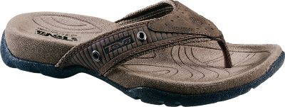Camp and Hike The total ventilation of a thong combined with a hiker-quality footbed. It's a timeless style that you can wear out on the town, down the trail or around campus. After a long day on your feet, you'll appreciate the heel-cushioning Shoc Pad. Waterproof, full-grain leather uppers. Anatomically-shaped, molded EVA footbeds feature microfiber covers with antibacterial treatment. Imported.Men's sizes: 8-14. Half sizes to 12.Color: Cigar. Type: Sandals. Size: 10. Shoe Width: D. Color: Cigar. Size 10. Color Cigar. - $9.88