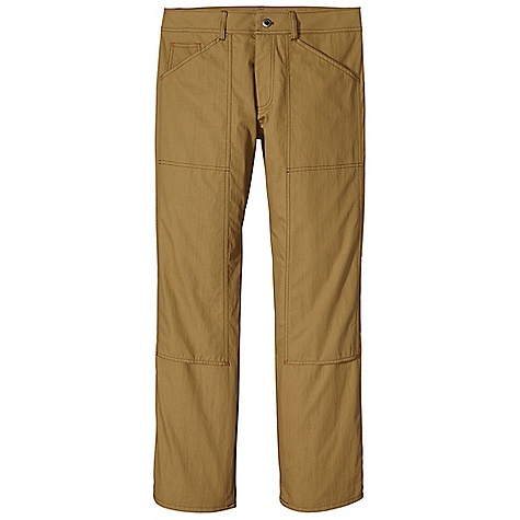 Free Shipping. Patagonia Men's Harding Pant DECENT FEATURES of the Patagonia Men's Harding Pant Made of a durable and lightweight organic cotton/nylon blend with a DWR finish Bartack reinforcements on pockets, rear yoke and belt loops zippered fly Pockets: Two slant, front-entry with bartack reinforcements coin-safe pocket two, slant pockets at back with bartack reinforcements Panels on legs add durability Gusseted crotch and a relaxed fit for comfort and ease of movement The SPECS Relaxed fit 3.8-oz 74% organic cotton/26% nylon, with a DWR finish This product can only be shipped within the United States. Please don't hate us. - $99.00