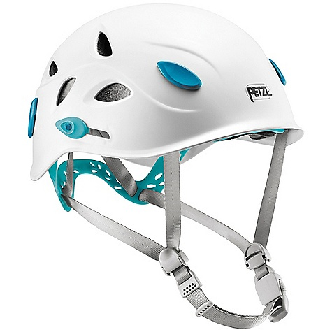 Climbing Free Shipping. Petzl Women's Elia Helmet DECENT FEATURES of the Petzl Women's Elia Helmet Specifically sized for women (52-58 cm headband) Patented OMEGA system is compatible with ponytails, height is adjustable by incremements Headband can be adjusted with two lateral buttons to obtain precise and comfortable positioning of the OMEGA system System allows adjustment of Y-shaped webbing straps around ears Chinstrap buckle is easy to adjust and positioned to the side and away from chin Side openings for ventilation Injection molded ABS shell is both lightweight and durable Expanded polystyrene liner absorbs impacts Narrow polyester webbing straps offer improved comfort Headlamp attachment with four optimally placed clips Foam is removable and washable Headband adjustment folds into the shell for compact storage and ease of transportation Not compatible with VIZION face shield One-size-fits-all for easy inventory management while taking up less sales floor space Stackable packaging is compact while allowing for proper display of helmets The SPECS Headband: 52 - 58 cm Weight: 285 g Material(s): Injection molded ABS shell, expanded polystyrene liner, polyester webbing straps Certification(s): CE EN 12492, UIAA 106 Weight of Packaged Product: 405 g Case Quantity: 8 ALL CLIMBING SALES ARE FINAL. - $65.95