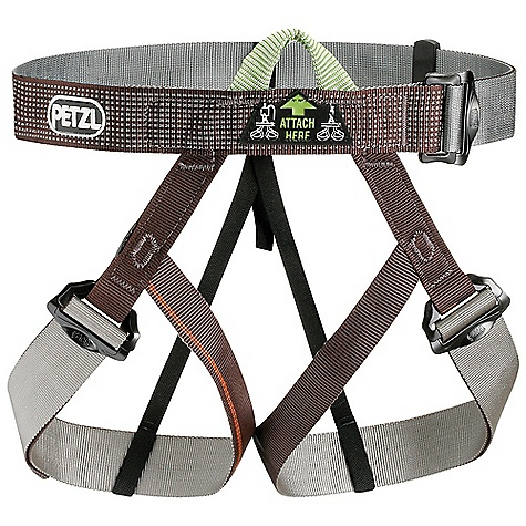 Climbing The Petzl Gym Climbing Harness is a webbing harness for use as a backup or large groups. The harness is one size Fits all, or at least most, going from 60 to 101cm at the waist and leg loops that open to a maximum of 67cm. It's just right for a back up, groups at a gym, or throwing in your bag just in case a friend wants to check out Climbing with you for the day. Jump in and jump on the wall. Features of the Petzl Gym Climbing Harness Adjustable leg loops allow size to be adjusted depending on comfort desired or layers of clothing worn, and allow the harness to be put on when wearing skis or crampons DoubleBack buckles for easy adjustability They help prevent incorrect manipulation Single Dyneema-reinforced tie-in point for increased durability Detachable elastic leg loop straps Leg loops and waistbelt Are color coded to facilitate donning - $48.71
