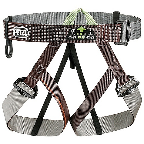 Climbing The Petzl Pandion Climbing Harness is a webbing harness for Climbing, adventure racing, and beginners. Completely adjustable at the waist and leg loops and superbly packable harness is ready for fast, lightweight adventures that may involve a change of clothing layers. Put it on while you're still wearing skis and crampons without destroying the nylon webbing and secure yourself in with the DoubleBack buckles. The single Dyneema tie-in point is tough and the single equipment loop is flexible, steering clear when wearing a pack. A lightweight convenience you can always keep around that is fully adjustable to Fit all sizes of friends. Features of the Petzl Pandion Climbing Harness Adjustable leg loops allow size to be adjusted depending on comfort desired or layers of clothing worn, and allow the harness to be put on when wearing skis or crampons DoubleBack buckles for easy adjustability They help prevent incorrect manipulation Single Dyneema-reinforced tie-in point for increased durability Flexible equipment loop stays out of the way while wearing a pack Detachable elastic leg loop straps Leg loops and waistbelt Are color coded to facilitate donning - $52.46