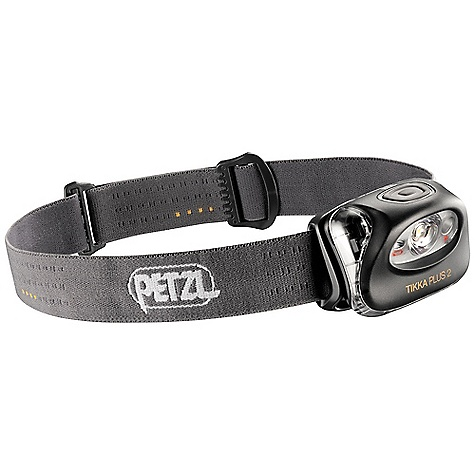 Petzl Tikka Plus 2 Headlamp DECENT FEATURES of the Petzl Tikka Plus 2 Headlamp Integrates two light sources for versatility: one white, high-output LED and one red LED The white LED delivers 70 lumens in maximum mode and lights up to 40 meters In economic mode, it can reach a burn-time of 185 hours The red LED provides back-up lighting useful for preserving night vision Strobe lighting for increased safety, for example in an urban setting The SPECS Weight: 83 g Beam pattern: wide Max. light quantity: 70 lumens Max. lighting distance: 40 m Max. battery life: 185 h Number of batteries: 3 Battery type (included): AAA/LR03 Battery compatibility: alkaline, lithium, rechargeableNi-MH, rechargeable Ni-Cd Watertightness: IP X4 (water resistant) Certification(s): CE - $39.95