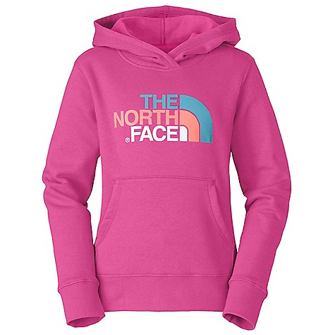 The North Face Girls' Multi Half Dome Pullover Hoodie DECENT FEATURES of The North Face Girls' Multi Half Dome Pullover Hoodie Kangaroo hand pockets Rib at cuffs and waistband Water-based screen-printed artwork Imported The SPECS 80% cotton, 20% polyester fleece, 280 g peached This product can only be shipped within the United States. Please don't hate us. - $39.95