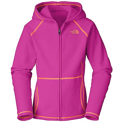 The North Face Girls' Glacier Full Zip Hoodie DECENT FEATURES of The North Face Girls' Glacier Full Zip Hoodie Extremely durable, pill-resistant surface Lightweight warmth Kangaroo handwarmer pockets Embroidered logo at left chest The SPECS Average Weight: 4.8 oz / 136 g Center Back Length: 20.5in. 70D 155 g/m2 100% polyester fleece This product can only be shipped within the United States. Please don't hate us. - $44.95