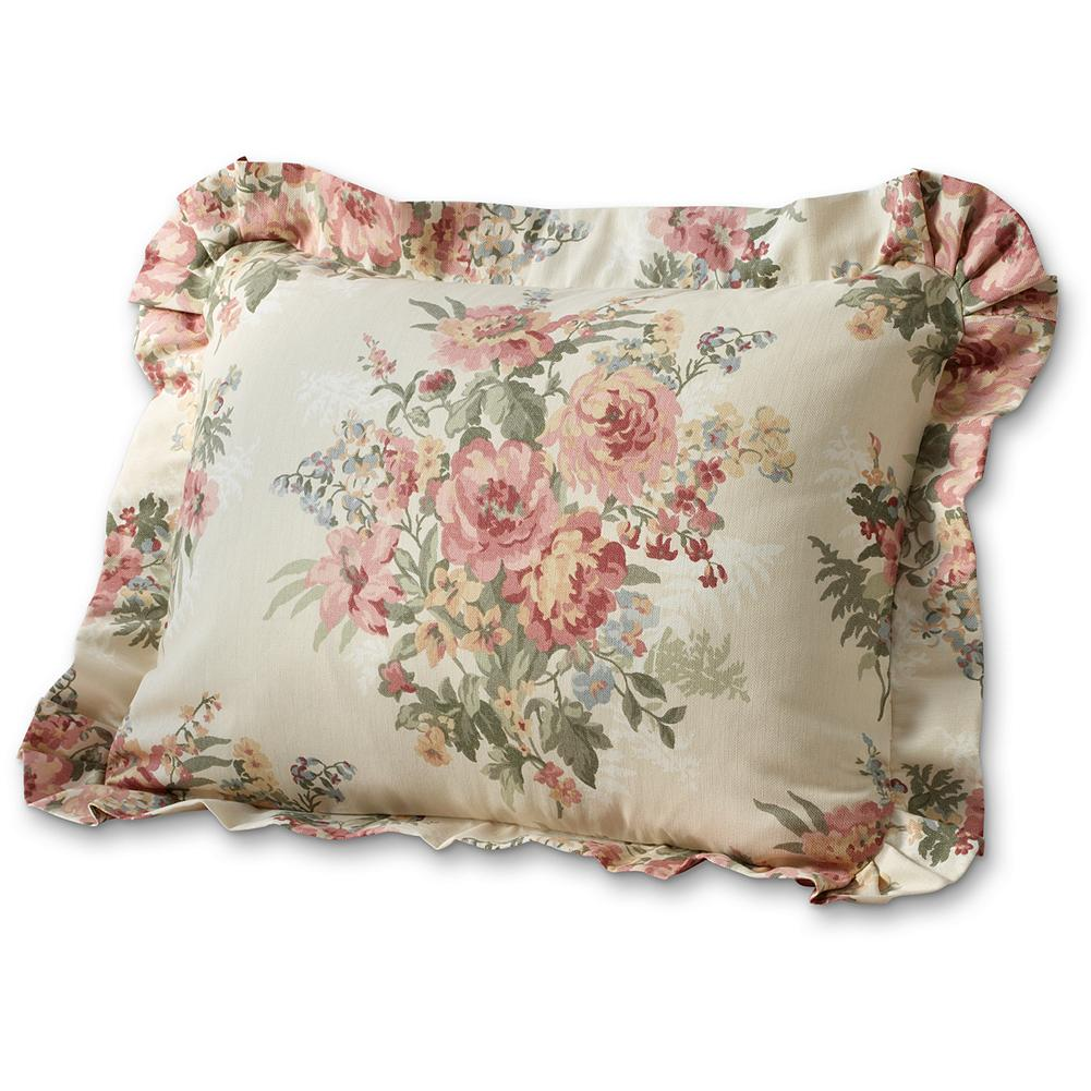 Entertainment Eddie Bauer Whittier Floral Sham - Inspired by meadows in bloom, our floral-themed pillow sham makes a great addition to any bedroom. Part of our Whittier Collection. Imported. - $49.50
