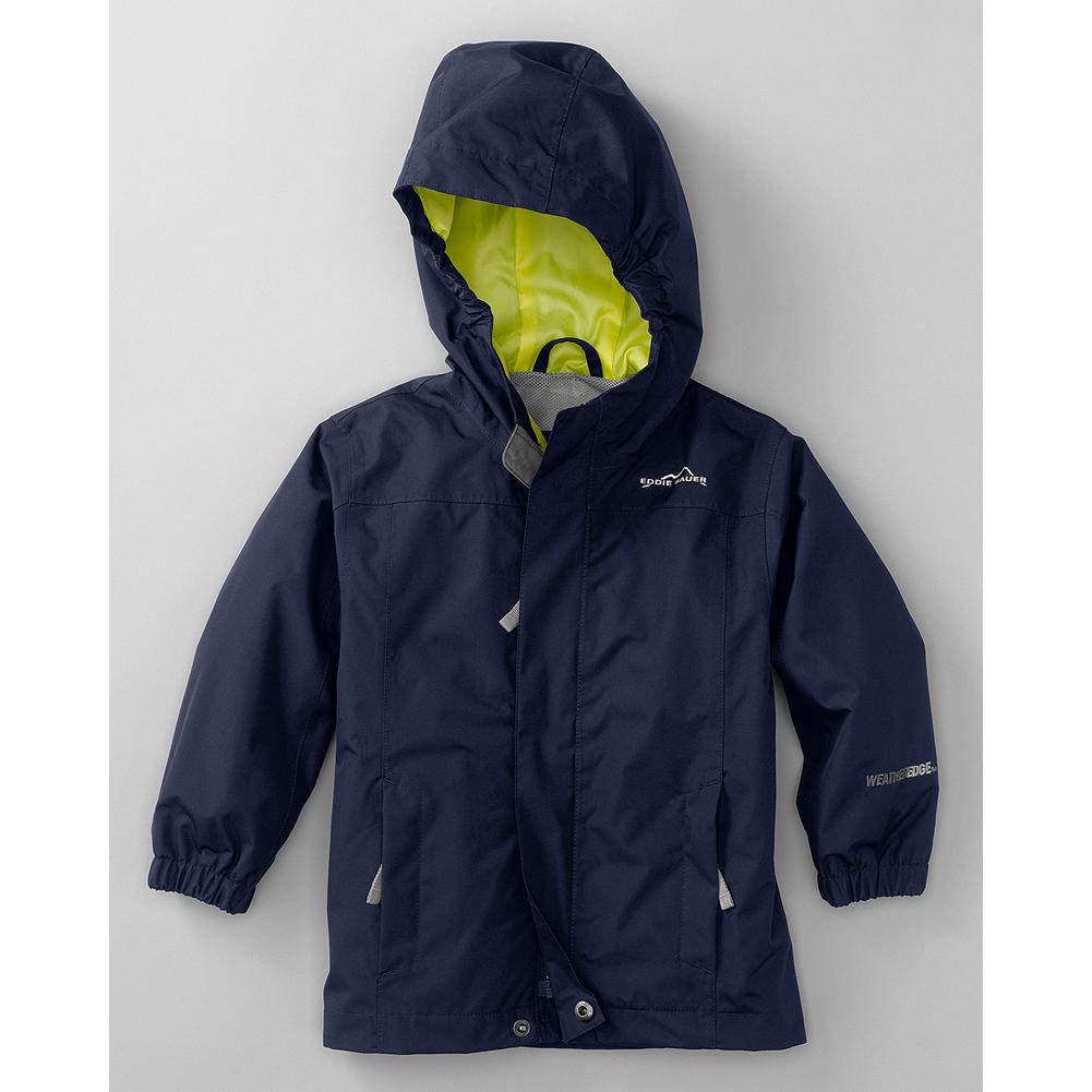Entertainment Eddie Bauer Boys' WeatherEdge Rainfoil Jacket - Mountain Guide in Training(TM)  Constructed with WeatherEdge technology, fully seam-sealed, windproof, and breathable, this jacket is built to see him through all his favorite spring activities -- rain or shine. - $49.95