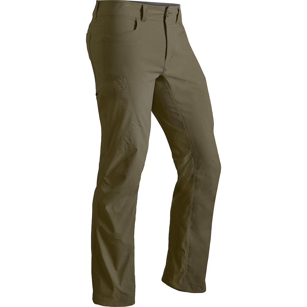 Eddie Bauer Guide Pants - A technical update to traditional guide pant performance, these versatile, wicking, all-season pants stretch, shed and breathe in the field. With a streamlined fit, articulated knees and trimmed calves and dual minimalist pockets to hold your bare essentials. - $69.95
