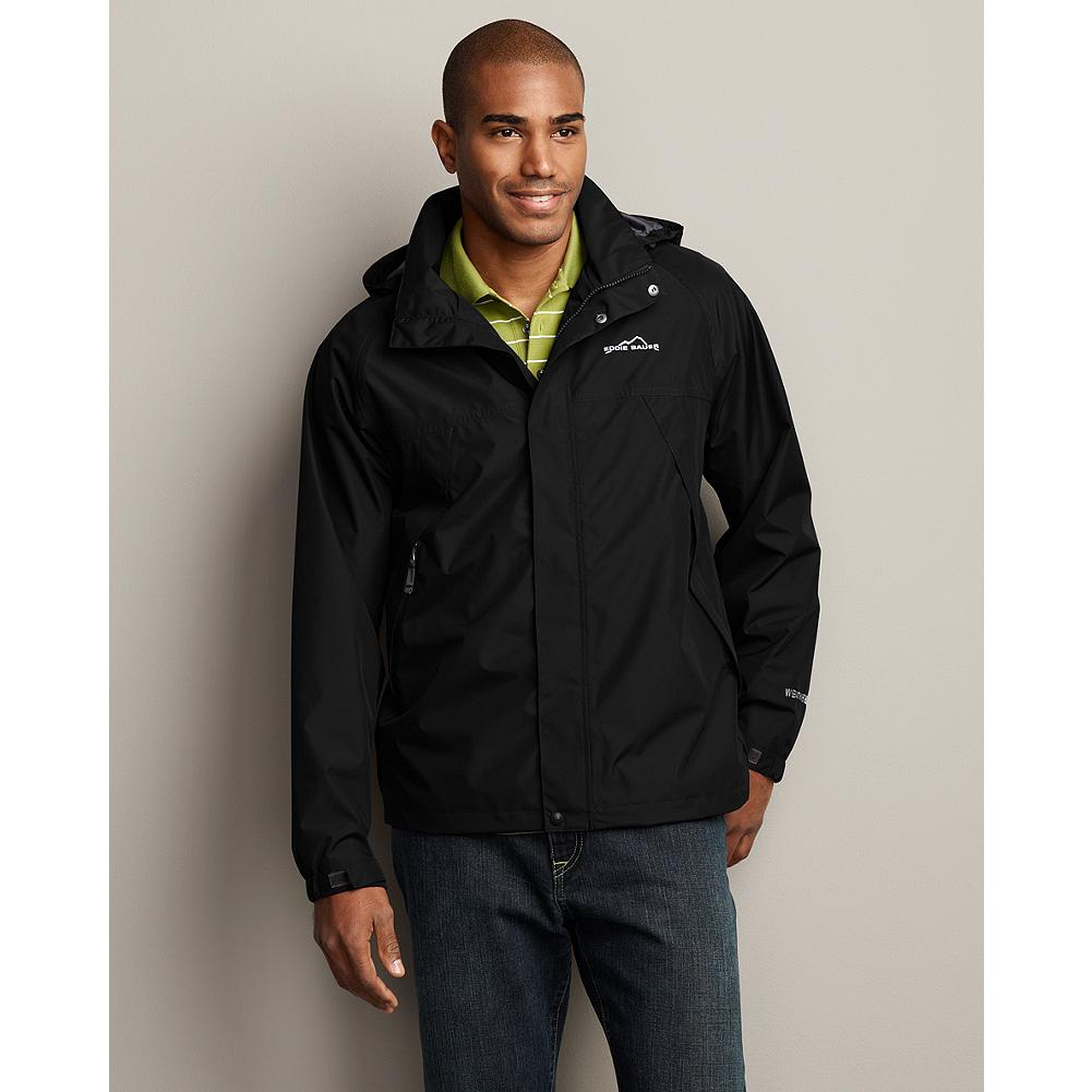 Entertainment Eddie Bauer WeatherEdge Rainfoil Jacket - Constructed with our WeatherEdge technology, the Rainfoil Jacket is waterproof, breathable, and windproof, so it will see you through all your favorite activities-rain or shine. It's also built for durability. The substantial polyester shell will stand up to decades of adventure. Our StormRepel durable water-repellent (DWR) finish causes moisture to bead on the surface and roll off or evaporate rather than soak in. Fully seam-sealed for maximum weather protection. And you get all that performance for under $100. - $69.99