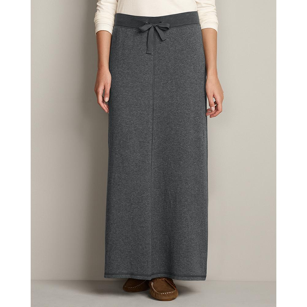 Fitness Eddie Bauer Cozy Double-Layer Skirt - Our full-length, double-layer maxi skirt is perfect for lounging at home or running errands around town. - $19.99