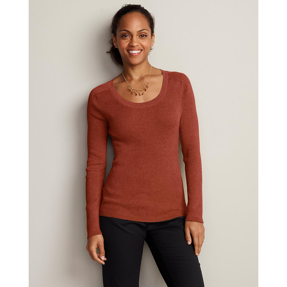 Eddie Bauer Medina Crewneck Pullover - Classic, go-anywhere pullover is made with blended yarns of cotton/nylon for ultrasoft texture and excellent color and shape retention. 2x2 rib-knit construction for a great fit and structural stability. - $39.95