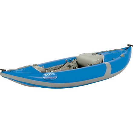 Kayak and Canoe AIRE has a long history of manufacturing top-shelf river rafts and water products, and in response to a need for an easily transportable river kayak solution, it created the Force Inflatable Kayak. Compared to the rest of Aire's line of inflatable kayaks, no other boat comes close to the Force in matching the quickness and speed offered by a hardshell. Continuous hull rocker allows the Force to easily surf waves, the PVC shell handles the occasional brush with the bottom, Leafield valves insure precise inflation, and buoyancy-enchancing AIREcells allow you to adjust your cockpit and hull feel precisely to your liking. After a long day on the river, this boat quickly deflates, rolls up, and stashes in the back of your wagon or the bed of your truck, no roof rack required. For experienced kayakers on the hunt for a fun, quick inflatable for running day trips and morning-to-night river sections, this is the ideal choice. - $1,598.95