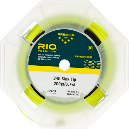 Flyfishing Unless you have the power to make trout rise at will, sooner or later you'll need the RIO 24ft Sinking Tip Fly Line to avoid going home empty handed. The thick body section supplies a balanced kick-free cast while the long front taper provides convincing and controlled presentations. - $74.95