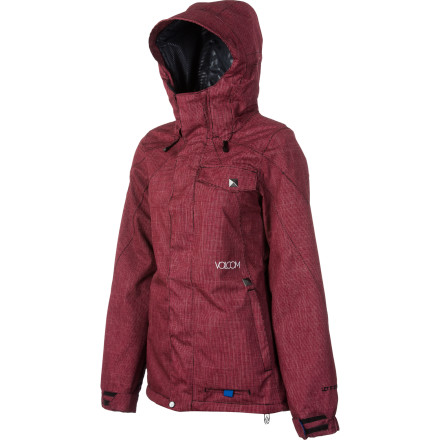 Snowboard The Volcom Women's Trivia Insulated Jacket keeps warm in and cold out, but (unlike some insulated jackets) the Trivia rocks a slim, sleek look. You'll look great from the top of the mountain to the bottom of your after-shred beer. - $112.48