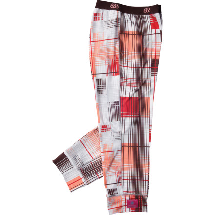 Hunting The 686 Women's Plaid Base Layer Bottom keeps your legs happy while you ride thanks to its quick-wicking fabric and soft, fleecey feel. We won't blame you if you can't bear to take them off when you get back to the cabin, so that you can curl up in them on the couch while you rest up for another day of serious shredding. - $18.00