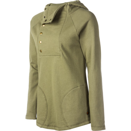 Perhaps because it can fend off chilly coastal breezes in summer and add a striking touch to your winter ensemble, we'd like to think that the Arbor Women's Haven Hooded Pullover Sweatshirt could only have come from heaven. Ties at the bottom hem and a button collar add the subtle accents that make this hoody extra special and versatile. - $62.96