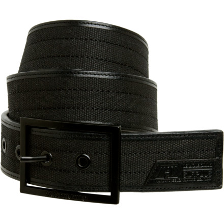 The Armourdillo Surplus Waxed Belt, with its single-prong enamel buckle, waxed canvas belt, leather logo patches, and binding, is not your grandfather's belt. The metal eyelets ensure the life of the belt and make it gnarly. Tell your grandpa its gnarly, then watch for the confused look on his face as he shakes his head in disapproval. - $34.95
