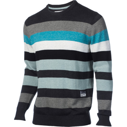 Surf The Billabong Fever Sweater adds a touch of class to your otherwise dirtbag closet. With three court dates and a trip to Grandma's coming up, you're going to need it. The soft seven-gauge engineered cotton /acrylic construction will be soft and comfortable with a delicious turkey dinner. Not as much with handcuffs and a new cellmate, but how much can you ask from a sweater - $38.64