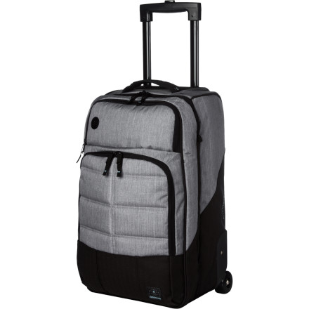 Surf Avoiding checked bag fees doesn't mean you have to cram everything into your old-school backpack. Make travel a little cheaper and easier with the Billabong Region Carry-On Bag. It has mesh dividers to keep your clothes neat and organized and two external pockets to keep your other items separate. Wheels and a telescoping handle make it easy to get around the airport with so you're not juggling a million things while trying to make your connection. - $129.45
