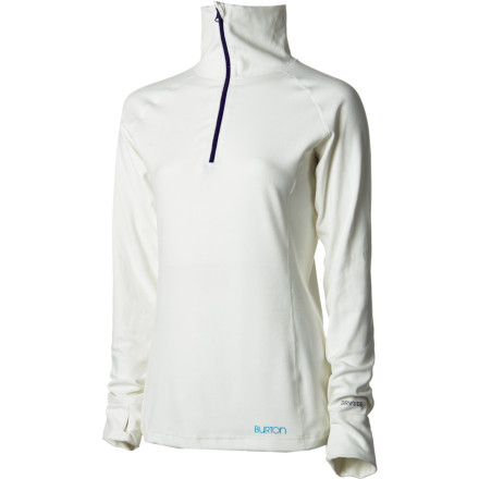 Snowboard The Burton Women's Expedition  1/4-Zip Top provides you with smart layering and style you won't mind rocking after the good times on the hill are done. - $52.46