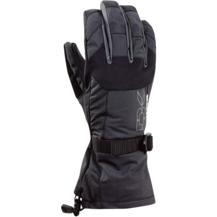 Snowboard Fingers move freely in the Dakine Men's Scout Gloves, which translates to great dexterity and warm hands. Adjust your boots and crank on snowboard bindings without fumbling around. Also, blood flow isn't restricted, so hands stay cozy. An over-the-cuff gauntlet keeps snow out of your jacket sleeves when you take a digger or take on fresh powder. These waterproof breathable gloves are insulated with Dakine's non-bulky synthetic Thermoloft. Removable stretchy fleece liners give you options. - $22.48