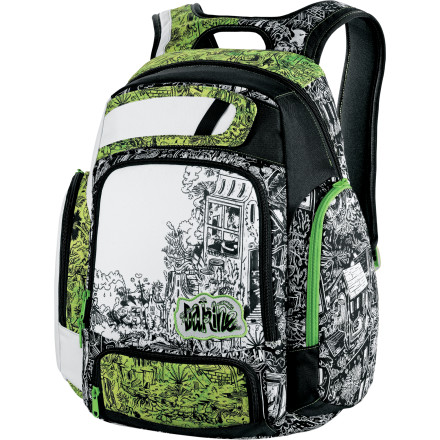 Camp and Hike Throw on the Dakine Covert Backpack and head to class by way of the skatepark. The Covert gives you all the room you need to carry the essentials, even if the essentials happen to be books every once in a while. - $37.48