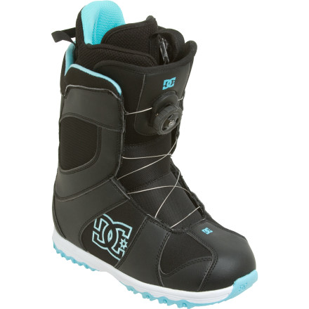 Snowboard When you're trying to figure out how to make the board do your bidding, you don't want to be wearing a boot with a mind of its own. Step into the DC Women's Search Snowboard Boot, which quickly and easily pulls the shell around your foot with a couple of flicks of the wrist. In addition to ease and precision, you can count on the Boa system to hold the boot in place without untying, stretching, or loosening the way standard laces can. - $80.00