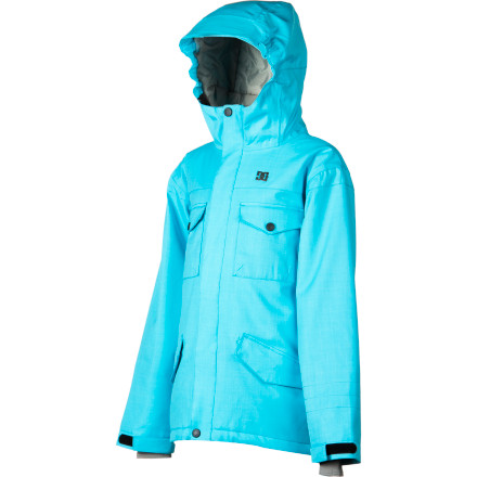 Snowboard The weather outside is frightful but wearing the DC Girl's Arcadia Jacket will make everything warm and delightful. 120g midweight insulation and 10K waterproofing help the Arcadia to send away foul weather without hesitation. - $60.00