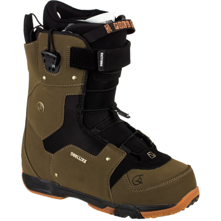 Snowboard Deeluxe designed the Empire Snowboard Boot for riders who want to conquer the entire mountain. Deeluxe's Section Control Lacing makes finding the perfect fit easy and allows the Empire to be adjusted mid-ride without even unstrapping your binding. The Empire's fairly stiff flex delivers excellent response on challenging steeps, and full waterproofing keeps your foot dry when you end up having to post-hole to the very top of runs off the ridge. - $169.50