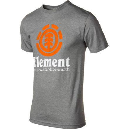 Skateboard The Element Vertical Short-Sleeve T-Shirt serves up classic fashion so you get an ultra-comfy shirt that you can where anytime, anywhere. - $22.46