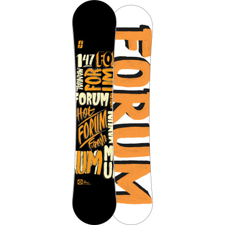 Snowboard Forum asks that you unwrap and read the new Manual ChillyDog Snowboard carefully before riding. If it takes you more than 20 seconds to realize that the Manual was made for slapping boxes and launching off lips, then we suggest you mount those bindings and start pressing the extra buttery nose and tail immediately. - $191.97