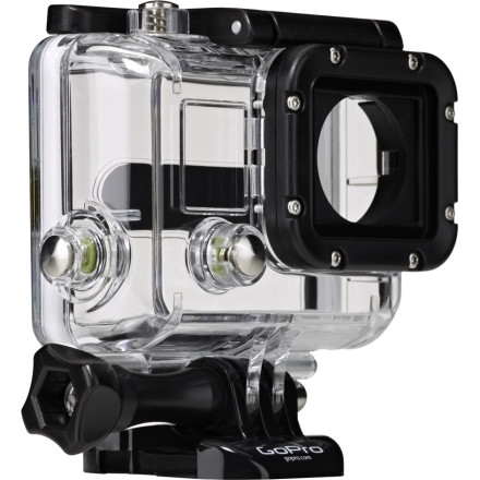 Fitness Keep the GoPro Replacement Housing around so you'll always have a case for your HD Hero3 helmet camera. Maybe you lost the original case, or maybe you scratched the front element to death; either way, this replacement case uses the same highly durable construction and flat front element. Just pop your Hero3 camera inside and record crystal-clear video once again.Case ships with a skeleton back door that's open to the elements to offer better audio Skeleton back door isn't waterproof, you'll need a waterproof back door to film underwater (sold separately) - $49.99