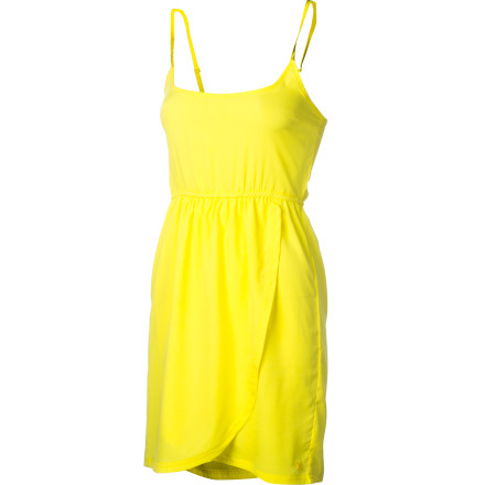 Entertainment Elegantly simple, the flirty and feminine Hurley Women's Hazel Dress has subtle shape for a carefree attitude. Its elastic waist and smocked back gives a flattering silhouette while the tulip skirt is all about romance. Just add waves, sand, and a gentle breeze. - $31.47