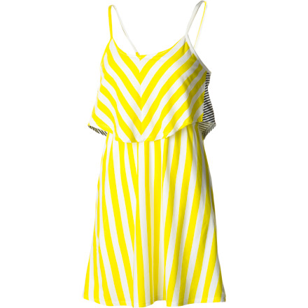 Entertainment Shake things up in the two-tiered Hurley Women's Featherweights Mixer Dress. Adjustable convertible straps allow you to fine-fit the amount of coverage, and the cotton-poly construction is a cinch to wash and wear. If only everything in life were this simple and spicy. - $39.45