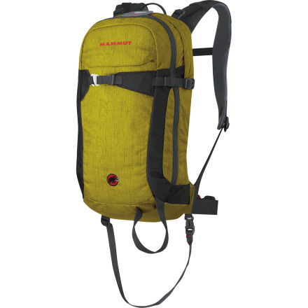 Snowboard Along with avy courses, practice, and the proper equipment, the Mammut 18L Rocker RAS Airbag Backpack gives that extra bit of safety while you venture into the backcountry. The removable airbag system helps keep you on the surface of a slide and helps protect your head from shocks. Stash your essential freeriding items in this low-volume, close-fit pack, check the avy report, and hit the backcountry for some quick laps - $449.21