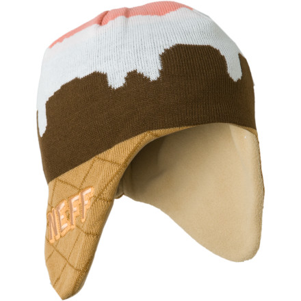 Skateboard I scream, you scream, we all scream for the Neff Ice Cream Beanie. Yes, we already know that was mad corny. Save your hate mail for the next time we make fun of midgets or something. - $10.38