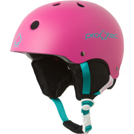 Skateboard Put the Pro-tec Kids Classic Snow Jr. Helmet on your little shredders noggin to keep him safe on the mountain or at the skate park. This skate-style helmet features removable ear-flaps and pads so he can use it in summer or winter. Pro-tec's peel-away fit system allows the Classic Snow Jr. Helmet to grow a full three sizes with your child. Fifteen screened vents keep air flowing and a soft removable liner protects the back of his neck. - $32.48