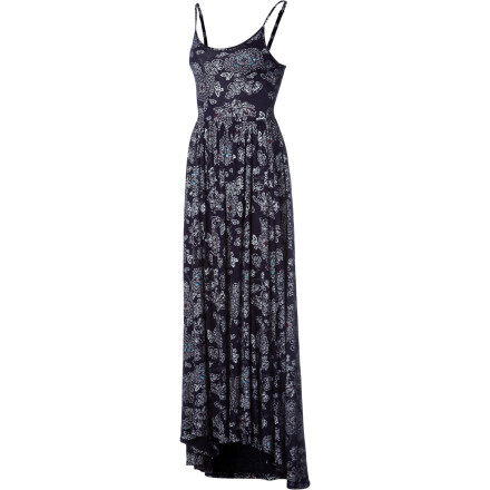 Entertainment Skip wearing shorts on a glorious sunny day and opt for the Quiksilver Women's Blue Skies Floral Maxi Dress. - $69.50