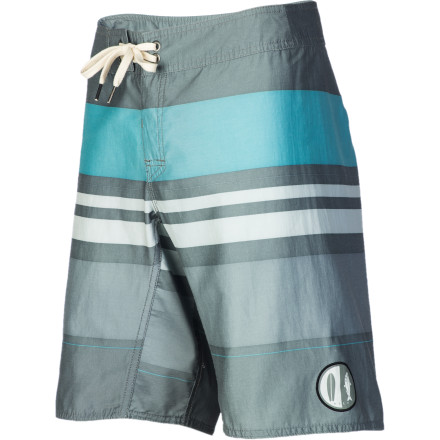 Surf Before paddling out to your favorite break, pull on the Reef Men's Classic Comp Board Short. A blend of cotton and recycled polyester are kind to your skin and the environment while the vintage stripes stir nostalgia for simpler times. - $48.97