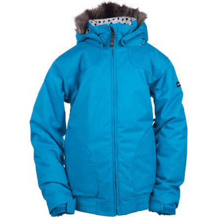 Snowboard It's time for your little jibber to sport her own gear instead of her brother's hand-me-downs, so check out the stylie Ride Girls Malibu Jacket. Its warm polyester insulation means less trips to the warming hut and more riding time for both of you. - $51.98