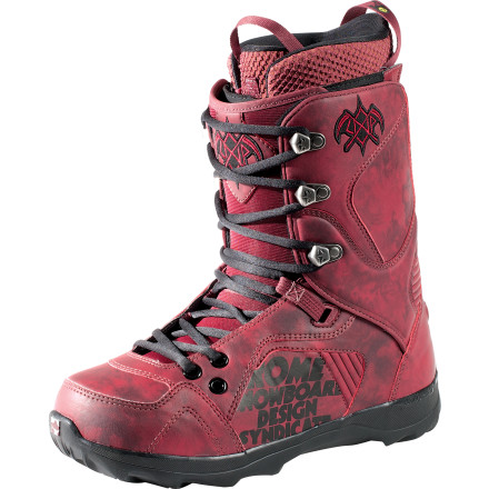 Snowboard Rome's Libertine Lace Boot combines skate-shoe comfort with all-mountain freestyle versatility. Tweak out a tuck-knee off your favorite cat-track launcher, duck into the woods for a few pow slashes, and pop out at the top of the park for some jibby good times. - $109.98