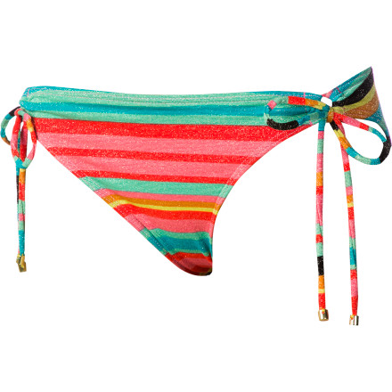 Surf Roxy Wave Frenzy Lowrider Tie Side Bikini Bottom - Women's - $24.70