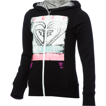 Surf Roxy Free Love Full-Zip Hoodie - Girls' - $28.60