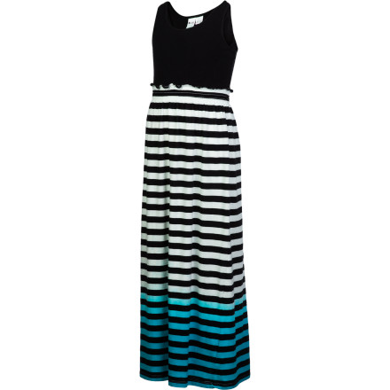 Surf Reach for the Roxy Girls' Shine A Smile Dress when you have a long day of travel ahead of you. This knit maxi dress feels soft and comfortable against your skin while you wait with the rest of your family to board the plane. - $39.50