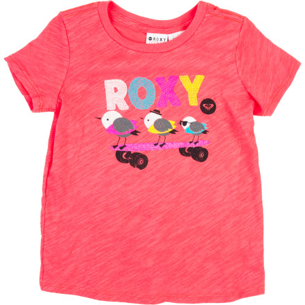 Surf Roxy Beach Bomb T-Shirt - Short-Sleeve - Toddler Girls' - $15.00
