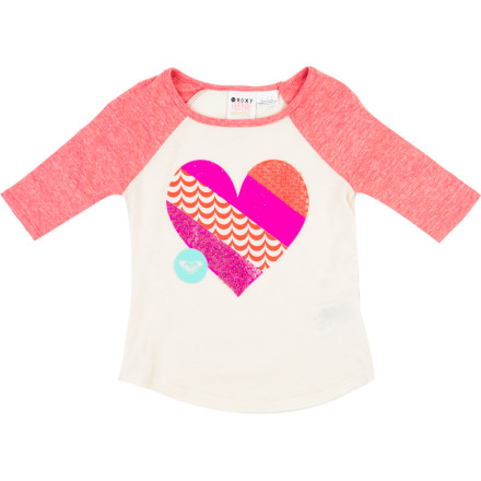 Surf Roxy Live Love Shirt - 3/4-Sleeve - Toddler Girls' - $18.00