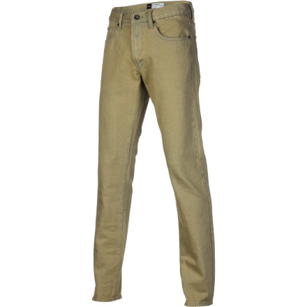Look sharp in the RVCA Daggers Colors Men's Slim Denim Pant. It's the same slim-fitting denim as the original Daggers, with a little color added for a look that will help you stand out from the rest of the jean-wearing masses. - $67.95