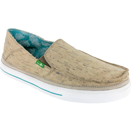 Show your love for all things fermented-grape-related with the Sanuk Baseline Wino Men's Shoe. It features a synthetic cork upper that gives it a unique look that meshes well with Sanuk's carefree and back-to-basics philosophy. So kick up your feet, uncork a bottle of Cabernet, and enjoy the simple things. - $51.96