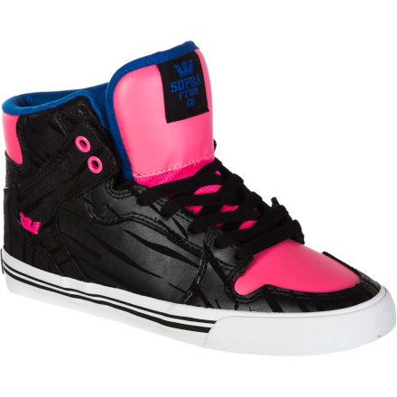 Skateboard Since breaking away from its Y-chromosomed counterpart, the The Supra Women's Vaider High Top Skate Shoe has won the heartsand cushioned the heelsof many women the world over who are looking for midtop comfort to go with their sky-scraping style. - $79.95